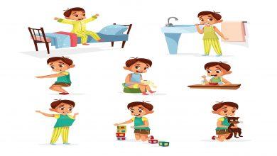 جدول روتين يومى للاطفال